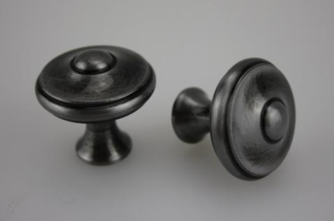 Möbelknopf Schubladenknopf Schrankknopf aus Metall - schwarz patiniert