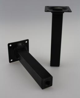Möbelfuss Tischbein Sofafuss Schwarz Eckig 25x25mm Höhe 150mm