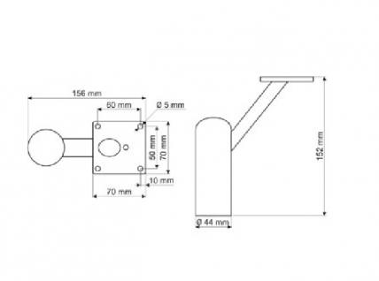 Möbelfuss Tischbein Sofafuss aus Metall in Chrom glänzend - Vorschau 2