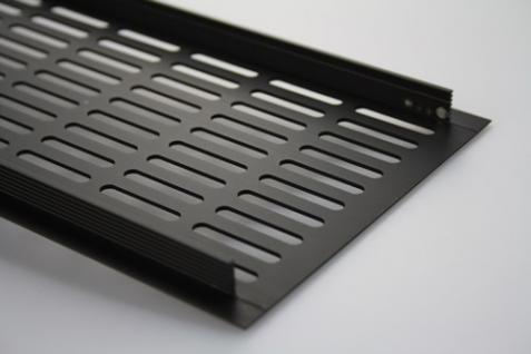 Aluminium Lüftungsgitter Stegblech Braun eloxiert Breite 130mm x 300mm