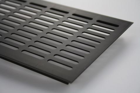 Aluminium Lüftungsgitter Stegblech Braun eloxiert Breite 130mm x 600mm