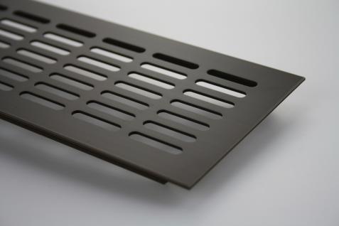 Aluminium Lüftungsgitter Gitter Lüftung Braun eloxiert Breite 150mm x 300mm