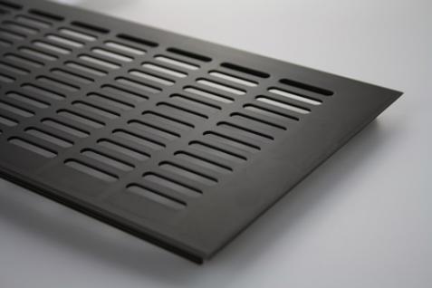 Aluminium Lüftungsgitter Gitter Lüftung Braun eloxiert Breite 150mm x 400mm