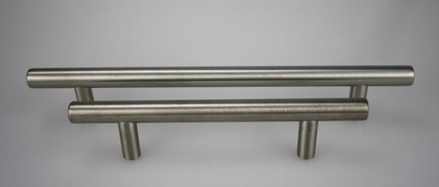 Stangengriff Möbelgriff - echt Edelstahl - matt gebürstet - ø 12 mm - diverse Lochabstände