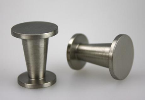 Möbelknopf Schubladenknopf Knopf - massiv Edelstahl - matt gebürstet - ø 20 mm