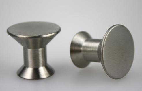 Möbelknopf Schubladenknopf Schrankknopf - massiv Edelstahl - matt gebürstet - Durchmesser 25 mm