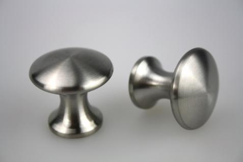 Möbelknopf Schubladenknopf Schrankknopf - massiv Edelstahl - matt gebürstet - Durchmesser 32 mm