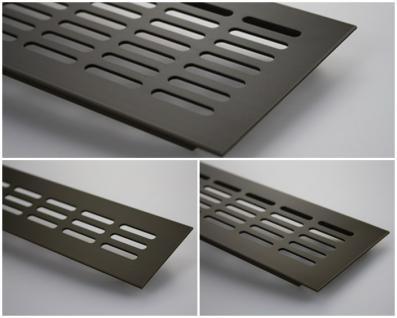 Aluminium Lüftungsgitter Stegblech - Braun eloxiert - Länge 2000 mm - div. Breiten