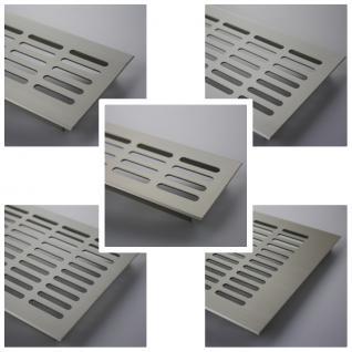 Aluminium Lüftungsgitter Stegblech - Edelstahl eloxiert - Länge 2000 mm - diverse Breiten