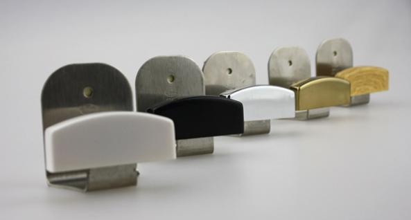 Garderobenhaken Kleiderhaken Huthaken in verschiedenen Farben - Höhe 50 mm
