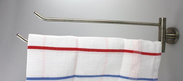 Handtuchhalter Handtuchablage aus Edelstahl - matt gebürstet - Länge 405 mm