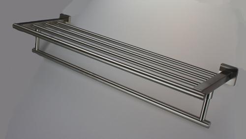 Handtuchhalter Handtuchablage aus Edelstahl - matt gebürstet - Länge 595 mm - Vorschau 2