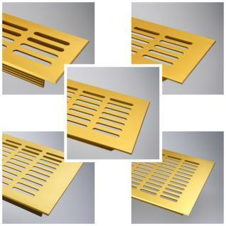 Aluminium Lüftungsgitter Stegblech Gold eloxiert - Länge 2000 mm - div. Breiten