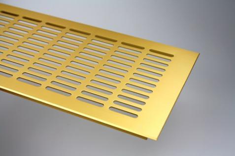Aluminium Lüftungsgitter Stegblech Gold eloxiert Breite 150 mm Länge 1500 mm