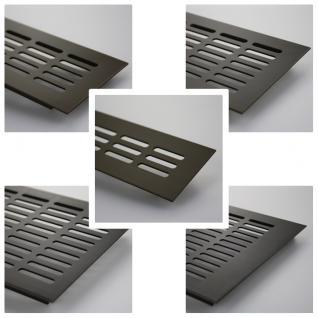 Aluminium Lüftungsgitter Stegblech - Braun eloxiert - Länge 1500 mm - diverse Breiten