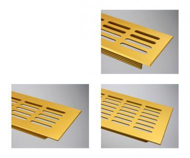 Aluminium Lüftungsgitter Stegblech - Gold eloxiert - Länge 1500 mm - diverse Breiten