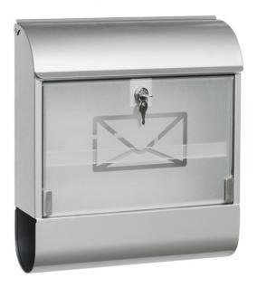 Briefkasten Postkasten Zeitungsfach Zeitungsrolle - verzinktes Stahlblech mit Glasfront - div. Größen
