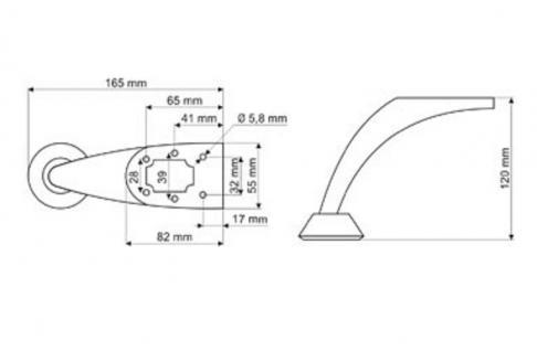 Möbelfuss Stützfuss Sofafuss Tischbein Möbelzubehör Fuss Chrom glänzend 120mm - Vorschau 2