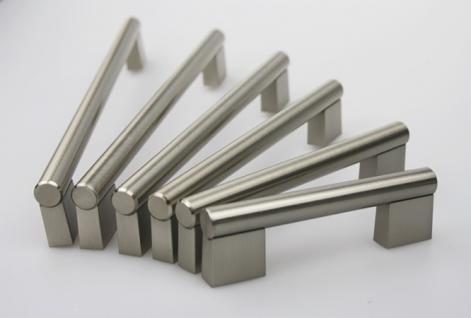 Möbelgriff Schubladengriff Schrankgriff aus Metall - Edelstahl matt gebürstet - diverse Lochabstände