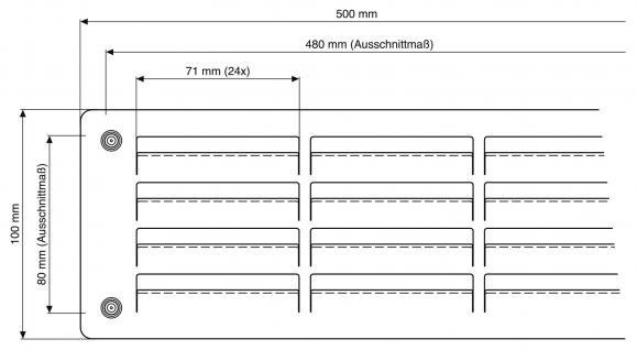 Edelstahl Lüftungsgitter Türlüftung Lüftung massiv Edelstahl 100mm x 500mm - Vorschau 3