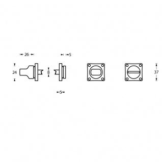 Intersteel Rosette mit Toiletten-/Badezimmerverriegelung quadratisch Chrom - Vorschau 2