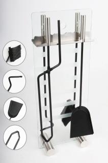Kaminbesteck Ofenset Ofengarnitur Kaminset Glas mit Edelstahl by MS Beschläge®