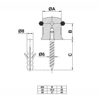 Bodentürstopper Türstopper Türpuffer Edelstahl matt gebürstet ø 22mm - Vorschau 2