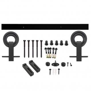 Intersteel Schiebetürsystem Modern Top Mattschwarz - Vorschau 1
