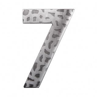 Hausnummern Schmiedeeisen schwarz verzinkt, Ziffer: 7