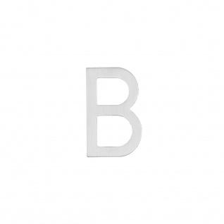 Intersteel Hausbuchstabe B 100 mm Edelstahl gebürstet