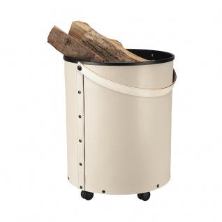 Rumba, Farbe Creme Leder regeneriert, H 50, 5 cm, Ø 39, 5 cm, 3, 5 kg