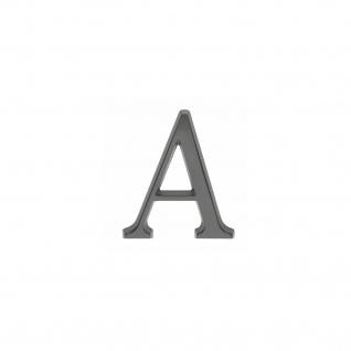 Intersteel Hausbuchstabe A mattschwarzes Titan PVD