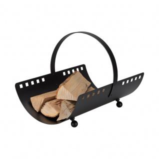 Square, Holzkorb Eisen, schwarz beschichtet, 50/36/29 cm, 3, 7 kg