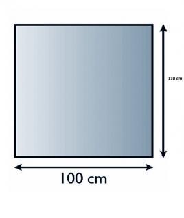 Glasbodenplatte Funkenschutz Rechteck 6mm Sicherheitsglas 100cm x 110cm