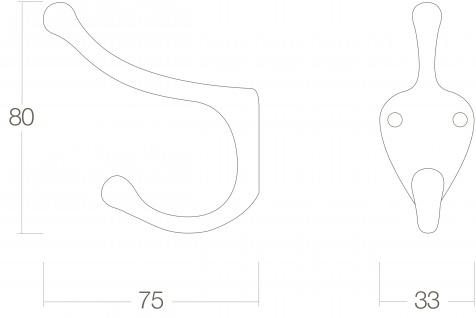 Intersteel Garderobenhaken Schiffsmodell Messing lackiert - Vorschau 2