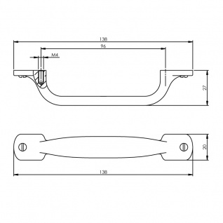 Intersteel Möbelgriff 138 mm Chrom matt - Vorschau 2