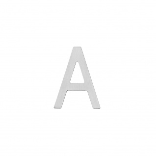 Intersteel Hausbuchstabe A 100 mm Edelstahl gebürstet