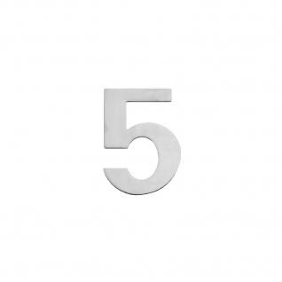Intersteel Hausnummer 5 150 x 2mm gebürsteter Edelstahl