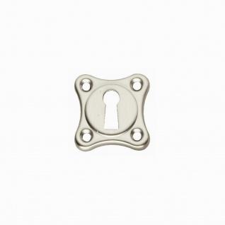 Intersteel Rosette Kleeblatt mit Schlüsselloch Nickel matt