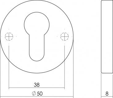 Intersteel PZ-Schutzrosette rund verdeckt Chrom matt - Vorschau 2