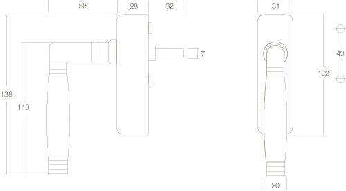 Intersteel Fenstergriff Ton 222 abschließbar Nickel - Vorschau 2