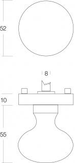 Intersteel Türknopf Rosette Nickel matt - Vorschau 2