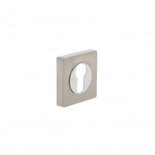 Intersteel PZ-Schutzrosette quadratisch Chrom/Nickel matt