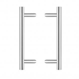 Intersteel Türgriffe Set T-schräg ø 25 mm - 500 mm gebürsteter Edelstahl