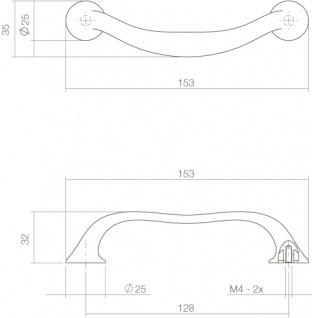 Intersteel Möbelgriff 153 mm Chrom - Vorschau 2
