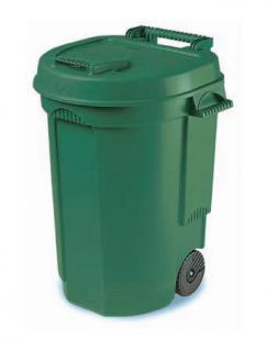 Abfalleimer Mülltonne Container mit Rädchen 110 Liter - Grün