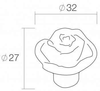 Intersteel Möbelknauf Blume ø 32 mm Altgrau - Vorschau 2