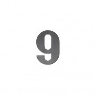 Intersteel Hausnummer 9 mattschwarzes Titan PVD