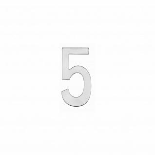 Intersteel Hausnummer 5 150 x 3mm gebürsteter Edelstahl