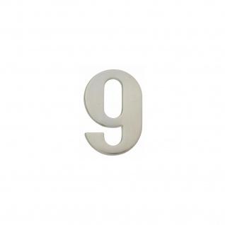 Intersteel Hausnummer 9 Nickel matt